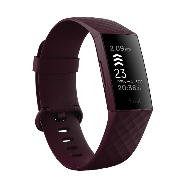 Fitbit GPS搭載 フィットネストラッカー L/Sサイズ Charge4 RoseWood FB417BYBY-FRCJK [FB417BYBYFRCJK]