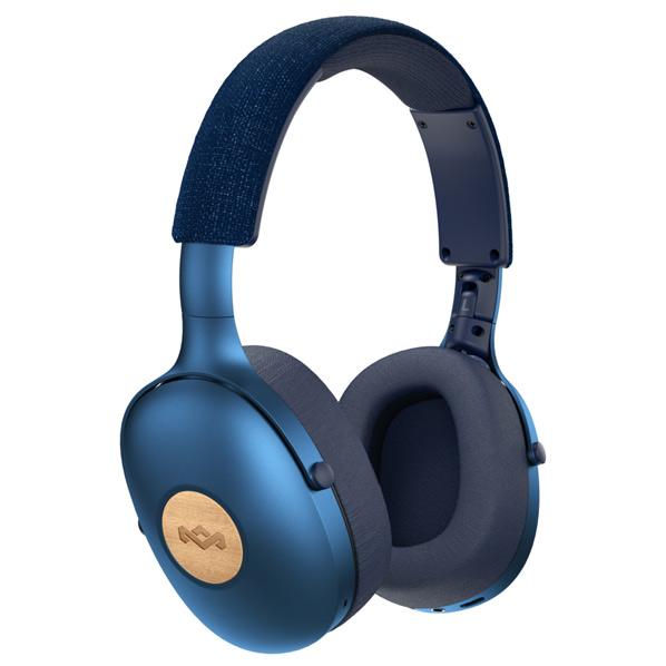 ハウスオブマーリー ワイヤレスオーバーイヤーヘッドフォン ブルー POSITIVE-VIBRATION-XL-BL [POSITIVEVIBRATIONXLBL]【NATUM】