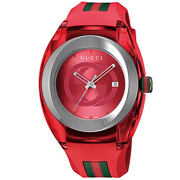 グッチ 腕時計 SYNC レッド YA137103A [YA137103A]