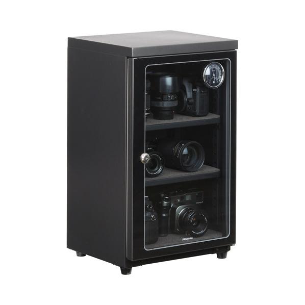 ハクバ 電子式防湿保管庫 E-ドライボックス ブラック KED-60 [KED60]【JNSP】