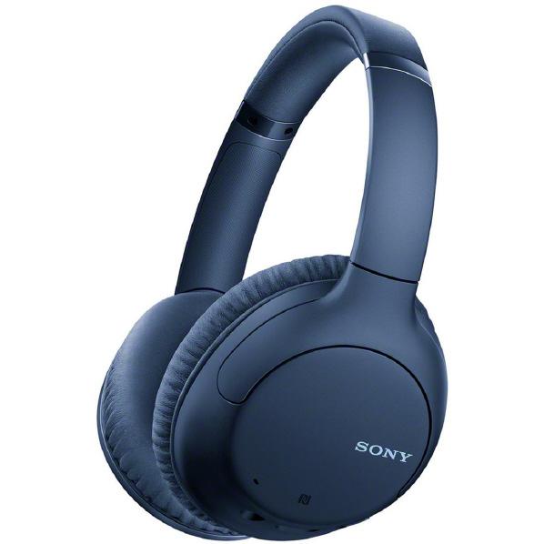 SONY ワイヤレスノイズキャンセリングステレオヘッドセット ブルー WHCH710NL [WHCH710NL]【RNH】