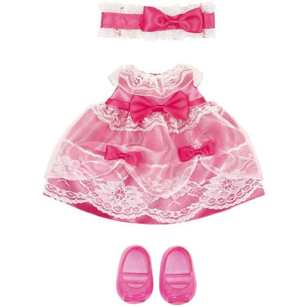 おおきいリボンとレースがいっぱいのピンクのドレスです パイロットインキ メルちゃん メルチヤンピンクノオヒメサマドレス きせかえセット 賜物 ピンクのおひめさまドレス 売買