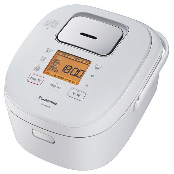 パナソニック IH炊飯ジャー(5.5合炊き) ホワイト SR-HB100-W [SRHB100W]【RNH】【OCPT】