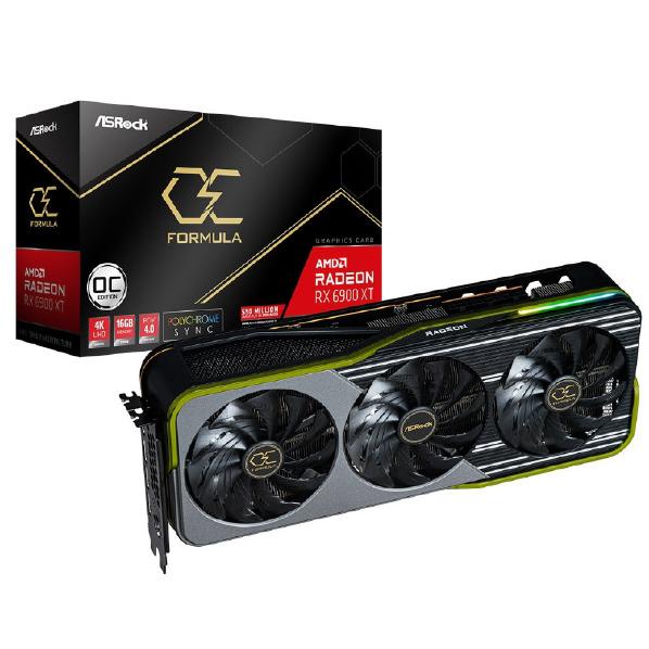 AMD RADEON RX 6900 初回限定 XTを搭載 高品質部品とオリジナルトリプルファンクーラーを採用するオーバークロック仕様のグラフィックボード ASRock グラフィックボード RX6900XTOCF16G OC ☆新作入荷☆新品 16G Formula XT RX6900XT Radeon OCF