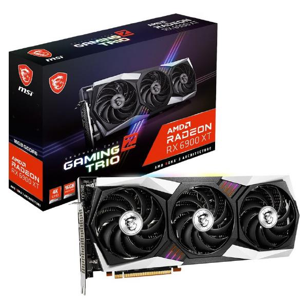 AMD RADEON RX 6900 XTを搭載 トリプルファンクーラー 安売り テレビで話題 Tri Frozr 2 を採用しオーバークロック性能を追求したグラフィックボード TRIO RX6900XTGAMINGZTRIO Radeon GAMING グラフィックボード XT 16G MSI Z