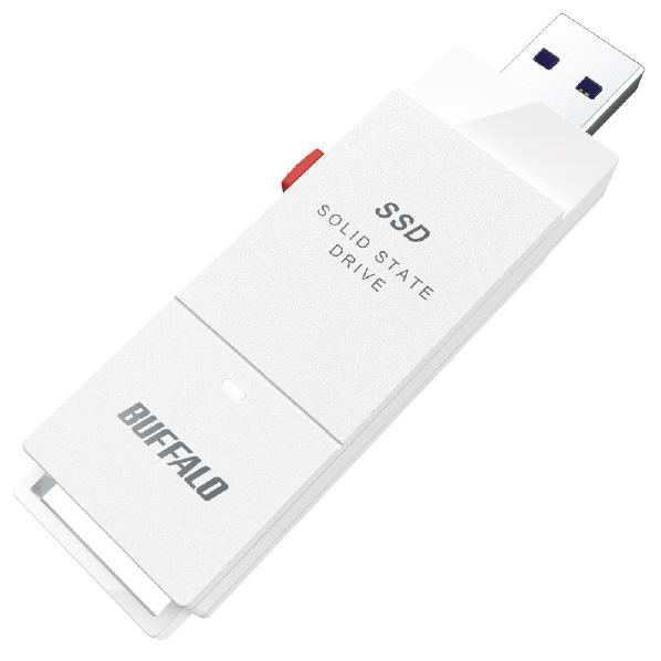 ケーブルレスで持ち運びに便利 USB TypeA-Cアダプター同梱 3.2 Gen 2 対応 スティック型SSD ◆在庫限り◆ BUFFALO PC対応 新作製品 世界最高品質人気 USB3.2 500GB TV録画 SSD-SCT500U3-WA ホワイト TypeC付属 スティック型外付けSSD SSDSCT500U3WA Gen2