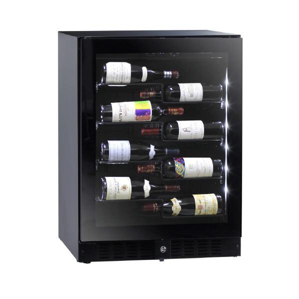 左開き ワインが主役になるディスプレイセラー 流行のアイテム funVino 売り出し ワインセラー ブラック 40本収納 BU138NAL BU-138NA-L