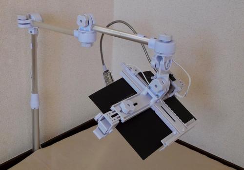 寝ながら読書/タブレット低床用 ベース式 ライト付き