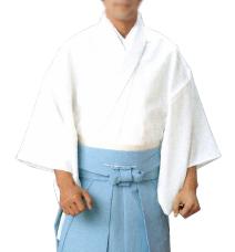 神職用白衣(綿ポリ) S·M·L·LL寸