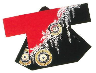 金・銀箔付き半纏(法被)【藤・蛇の目傘】