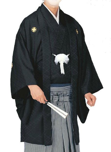 綸子羽織と袴下着物セット(男袷仕立)4・5・6・7・8号