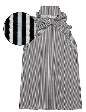 踊り用 銀通し縞袴(うまのり仕立)S・M・L寸