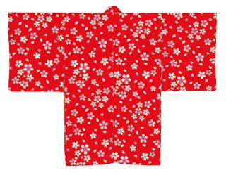 袴下着物・男単衣 桜
