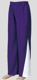 よさこい スウィングパンツ紫×白