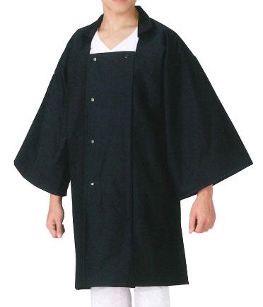 防・撥水・透湿三層素材使用 半纏コート 紺[半纏コート 法被コート 被布コート]