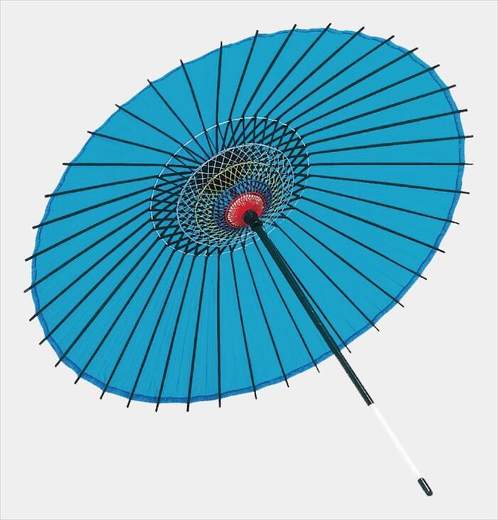 稽古用 絹傘(二本継ぎ)水色 [ 傘 和傘 日舞 日本舞踊 踊り 舞台用 工芸品 小道具 w15202 ]