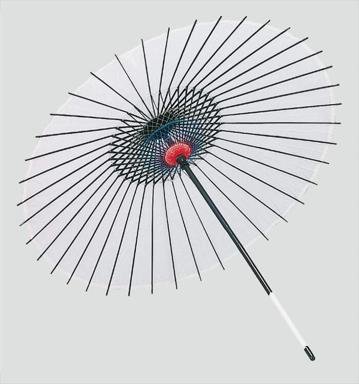 稽古用 絹傘(二本継ぎ)白 [ 傘 和傘 日舞 日本舞踊 踊り 舞台用 工芸品 小道具 w15204 ]