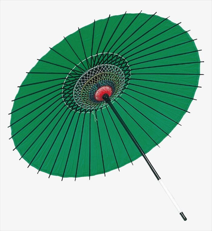 稽古用 絹傘(二本継ぎ)緑 [ 傘 和傘 日舞 日本舞踊 踊り 舞台用 工芸品 小道具 w15206 ]