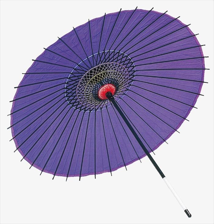 稽古用 絹傘(二本継ぎ)紫 [ 傘 和傘 日舞 日本舞踊 踊り 舞台用 工芸品 小道具 w15208 ]