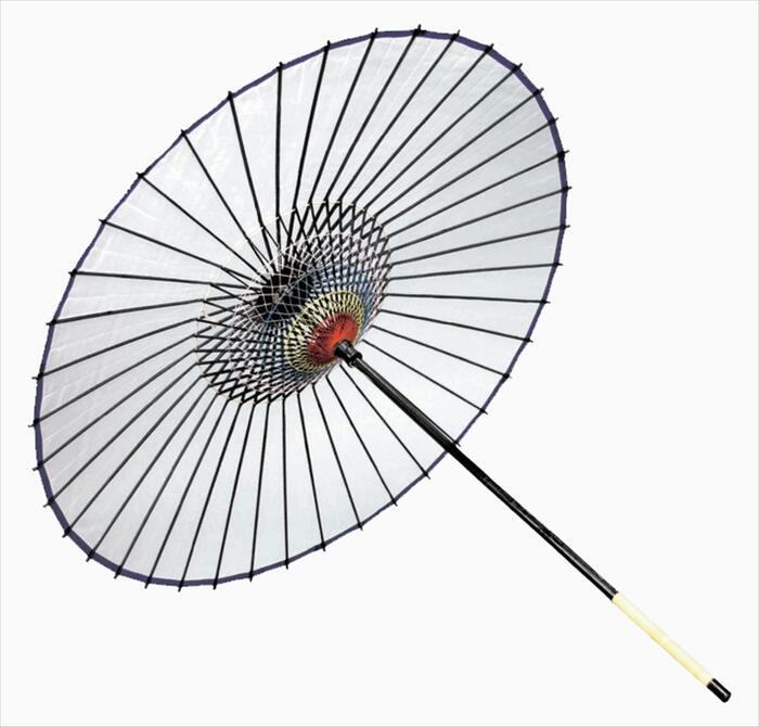 絹傘(二本継ぎ)白[ 傘 和傘 日舞 日本舞踊 踊り 舞台用 工芸品 小道具 w15268 ]