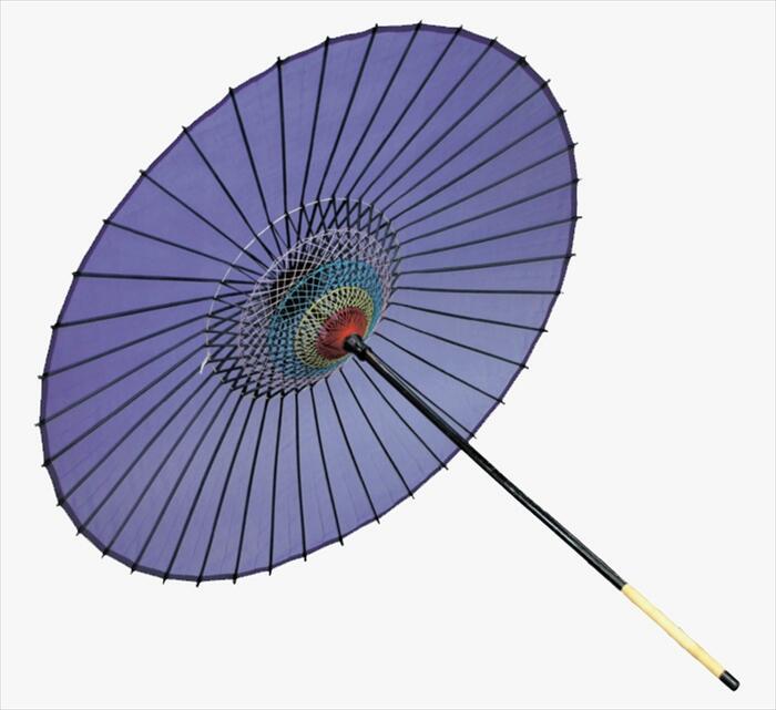 絹傘(二本継ぎ)紫[ 傘 和傘 日舞 日本舞踊 踊り 舞台用 工芸品 小道具 w15270 ]
