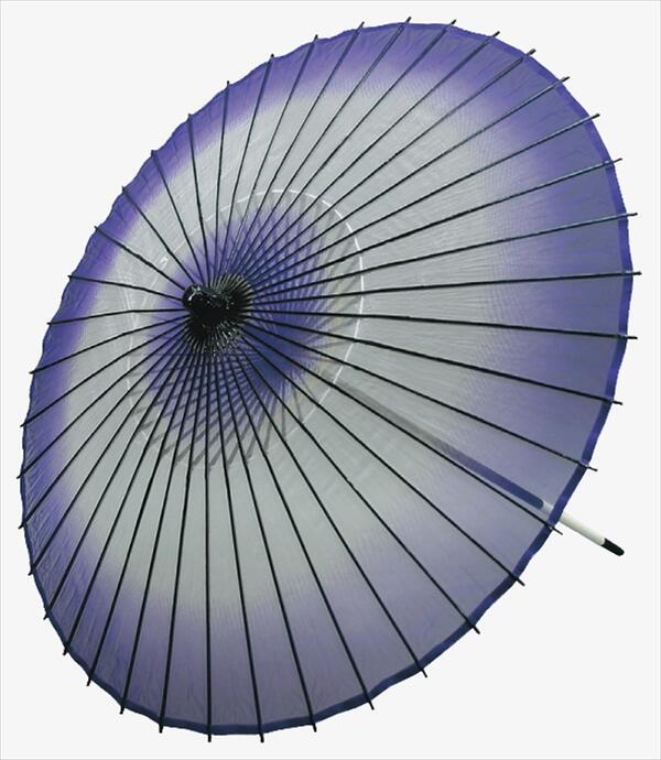 稽古用 絹傘 ボカシ(二本継ぎ)紫[ 傘 和傘 日舞 日本舞踊 踊り 舞台用 工芸品 小道具 w19350-1 ]
