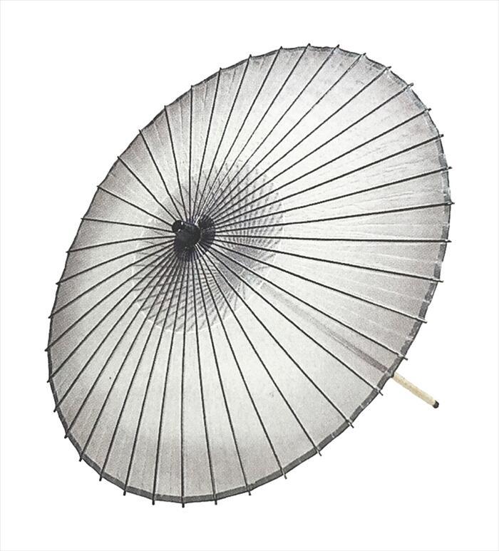 絹傘 ボカシ(二本継ぎ)黒[ 傘 和傘 舞傘 日舞 日本舞踊 踊り 舞台用 工芸品 小道具 s3303 ]