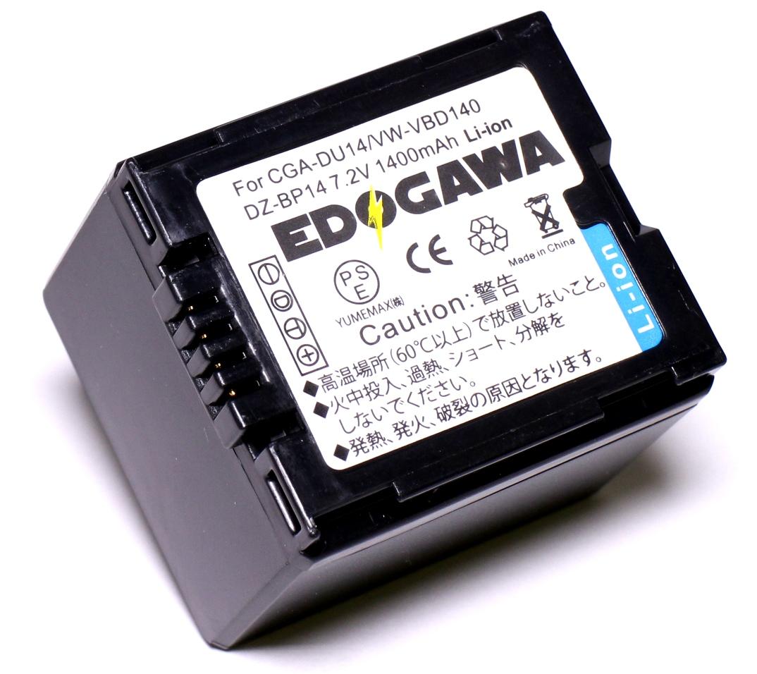 定形外送料無料 6ヵ月保証 宅配便 佐川 500円~ EDOGAWA Panasonic パナソニック VW-VBD140 HITACHI 日立 DZ-BP14S DZ-BD7H DZ-HD90 DZ-BD9H 残量表示対応 ED-BAT 対応互換バッテリー DZ-BD70 NV-GS300 永遠の定番 買収 NV-GS500 NV-GS250 DZ-BP14SJ