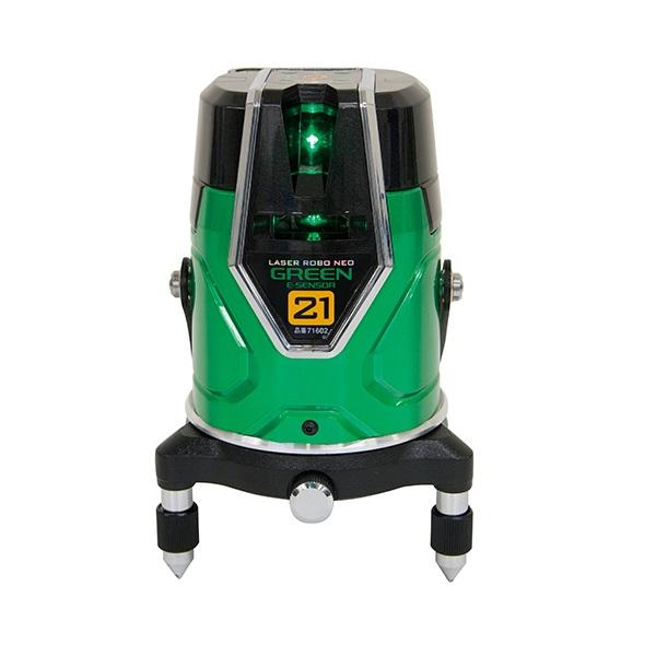 シンワ測定 71602 レーザーロボ グリ-ン Neo E Sensor 21 縦・横・地墨 センサ-+モ-タ-方式 新品