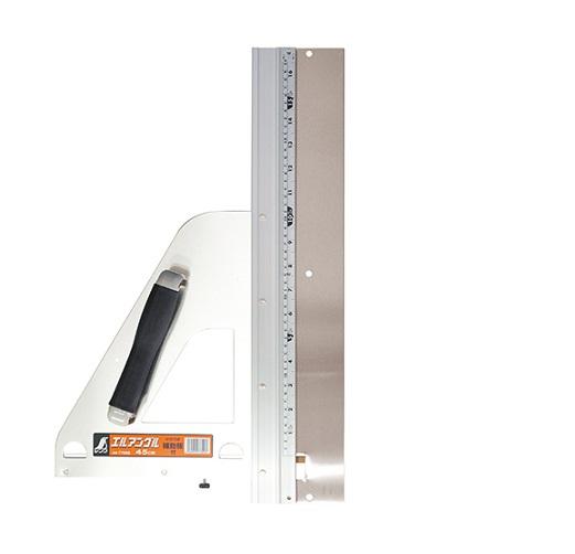 シンワ 77899 補助板付エルアングル450mm 丸ノコガイド定規 新品