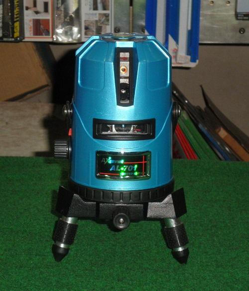 アックスブレ-ン AL-701 受光器対応 高輝度レーザー墨出し器 大矩・通り芯・水平ライン・鉛直クロス・地墨ポイント 新品 AL701