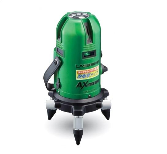 アックスブレ-ン LV-81G 受光器対応 高輝度グリ-ンレーザー墨出し器 フルライン 限定充電式単三電池4本付 新品 LV81G