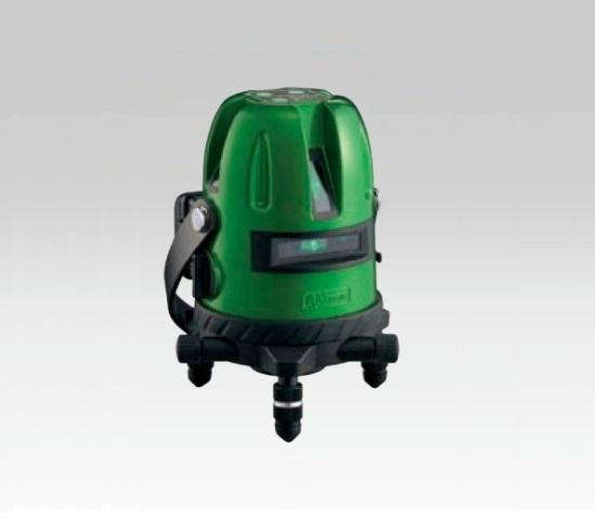 アックスブレ-ン AG-501 受光器対応 高輝度グリ-ンレーザー墨出し器 大矩・通り芯・水平ライン・鉛直クロス・地墨ポイント 新品 AG501