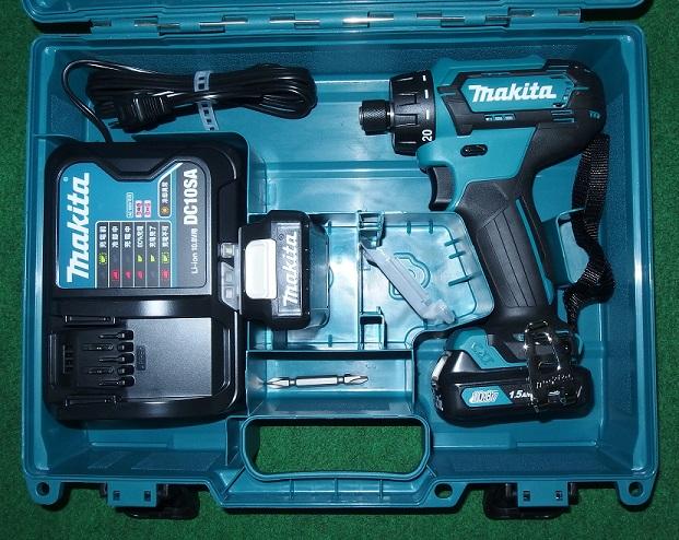 マキタ DF033DSHX 10.8V-1.5Ah ビットスリーブ式ドライバドリル 予備電池付セット 青 新品 DF031