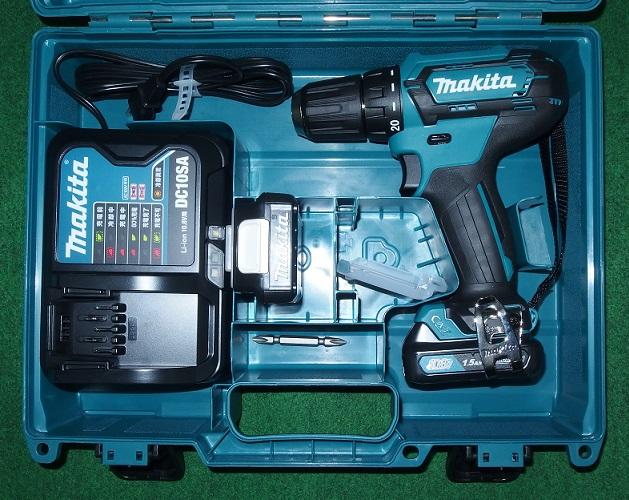 マキタ DF333DSHX 10.8V-1.5Ah ワンスリーブチャック式ドライバドリル 予備電池付セット 青 新品 DF331