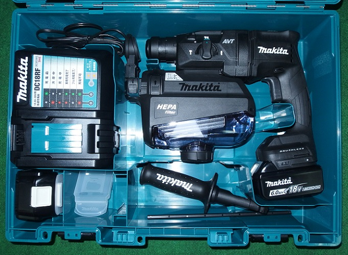 マキタ HR182DGXVB 18V-6.0Ah-18mm 無線連動対応 吸塵ハンマドリル 黒 新品