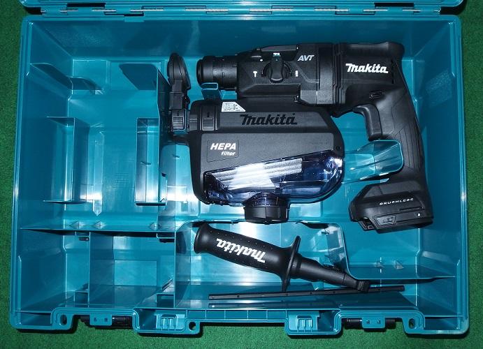 マキタ HR182DZKB+DX05 18V-18mm 無線連動対応 吸塵ハンマドリル 本体+ケース+集塵システム バッテリ・充電器別売 黒 A-68476 新品