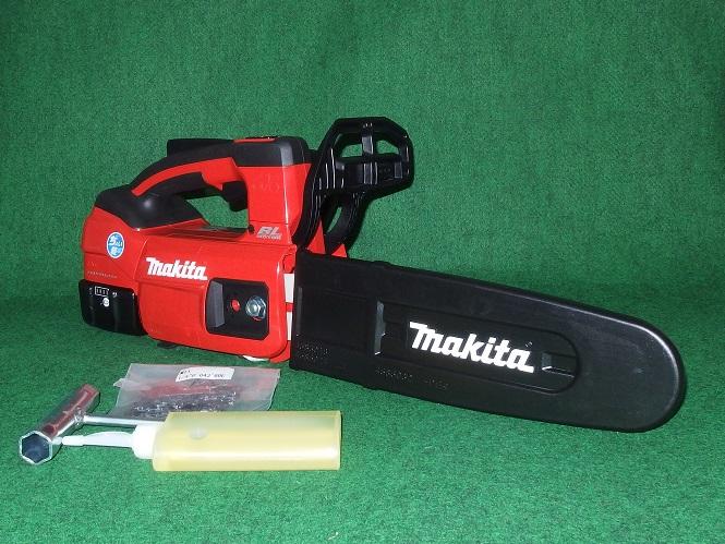 マキタ MUC254DGNR 18V-250mm ちょい軽 充電式チェーンソー M11専用薄型スプロケットノ-ズバ-仕様 赤 6.0Ah 新品