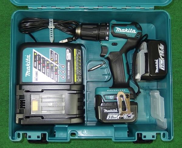 マキタ DF473DRF 14.4V-3.0Ah 軽量・防塵防滴ブラシレスドライバドリル 青 新品