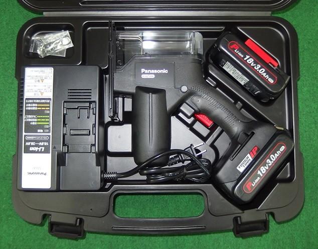 パナソニック EZ45A3PN2G-B 18V-3.0Ahデュアル角穴カッター 軽量電池2個付セット 黒 新品