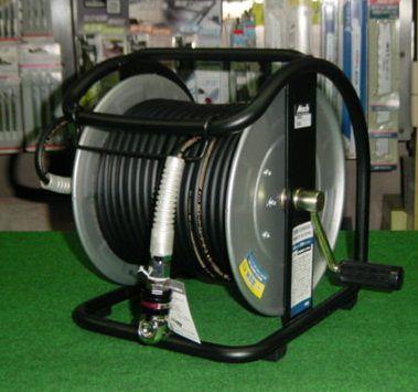 マッハ GHDAL-630C スイングカプラ+高圧用スーパ-スムージ-ホース付C型ドラム φ6x30m 黒 新品 GHDAL630C フジマック