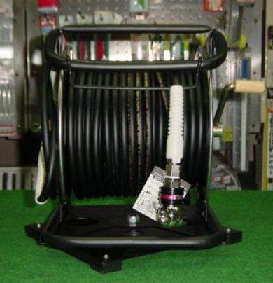 マッハ 回転台+SWカプラ付SUS製高圧用SPスムージーホース付ドラムΦ6X30m 黒 GHDAL-630TC-S 新品