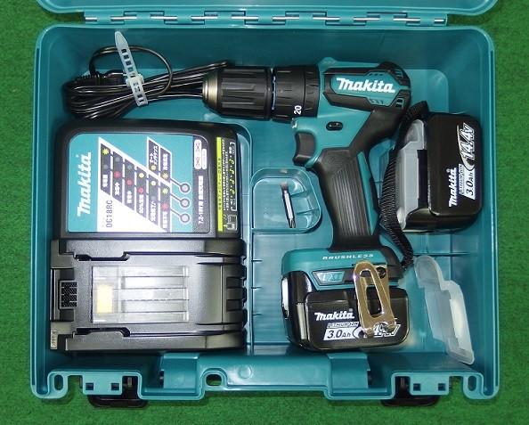 マキタ 14.4V-3.0Ah 軽量BL振動ドライバドリル HP473DRFX 新品