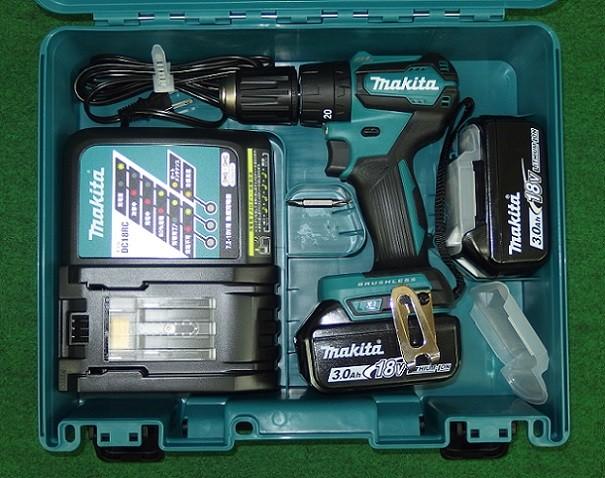マキタ 18V-3.0Ah 軽量BL振動ドライバドリル HP483DRFX 新品