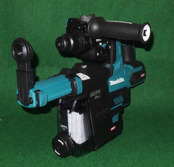 マキタ HR001GZK+集じんシステム 40Vmax-28mm 吸塵システム付充電式ハンマドリル 無線連動対応 青 バッテリ・充電器別売 新品 DX12 HR001GZKV