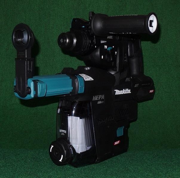 マキタ HR001GZKB+集じんシステム 40Vmax-28mm 吸塵システム付充電式ハンマドリル 無線連動対応 黒 バッテリ・充電器別売 新品 DX12 HR001DGXVB