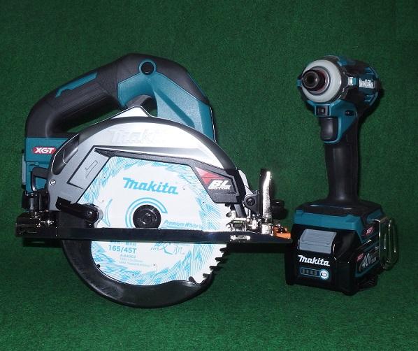 マキタ HS001GZ+TD001GZ 40V max 165mm充電式マルノコ 青+インパクト 青+バッテリ:BL4025x2+充電器+ケ-ス セット 新品 HS001 TD001