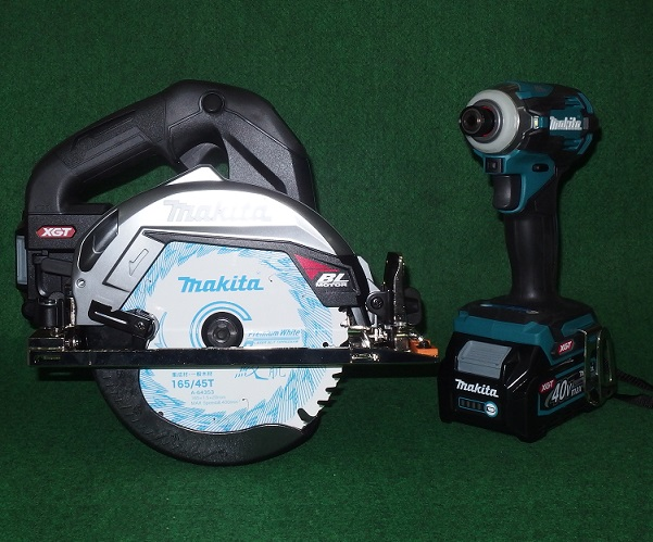 マキタ HS001GZB+TD001GZ 40V max 165mm充電式マルノコ 黒+インパクト 青+バッテリ:BL4025x2+充電器+ケ-ス セット 新品 HS001 TD001