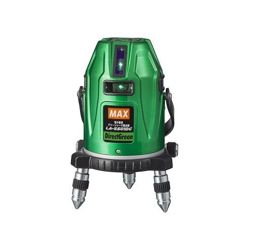 マックス LA-S501DG-DT 電子正準グリーンレーザー墨出器 矩十字・地墨・ヨコ 受光器・エレベ-タ-三脚付セット 新品 LAS501DG MAX