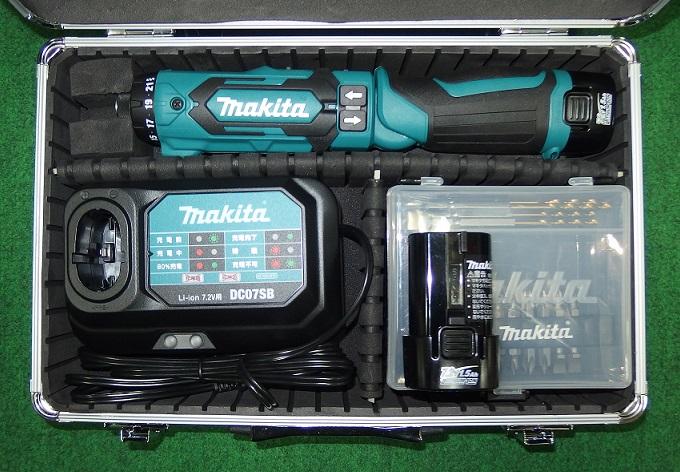 マキタ DF012DSHX 7.2Vペン型ドライバドリル 予備電池付セット 青 新品